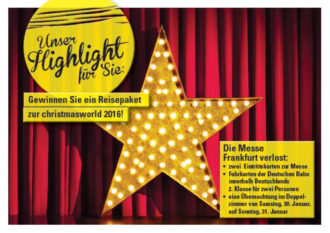 Christmasworld_Postkarte Gewinnspiel