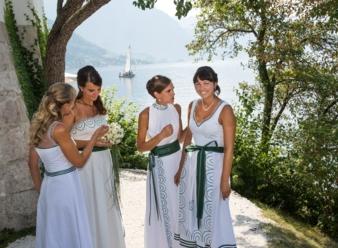 Braut und Brautjungfern Schloss Ort