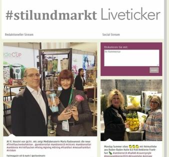 Liveticker Ambiente stil markt