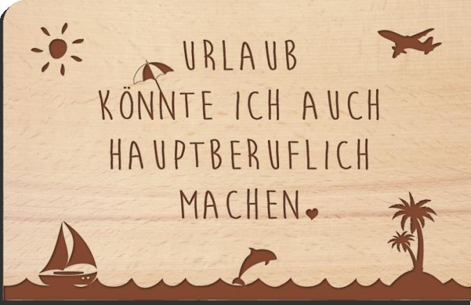 Holzpost postkarte urlaub stil markt - Spruch urlaub ...