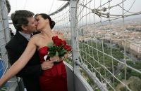 Hochzeit in der Luft